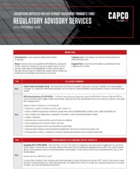 Capco Reference Guides Advertising Deposits Fdic