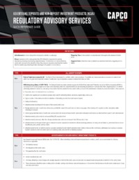 Capco Reference Guides Advertising Deposits Ncua