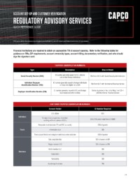Capco Reference Guides Account Setup And Customer Verification